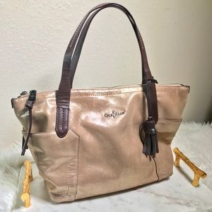 Cole Haan Metallic Shoulder Bag with Tassel ✨